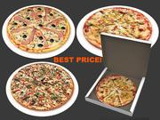 collezione di pizza 3d model