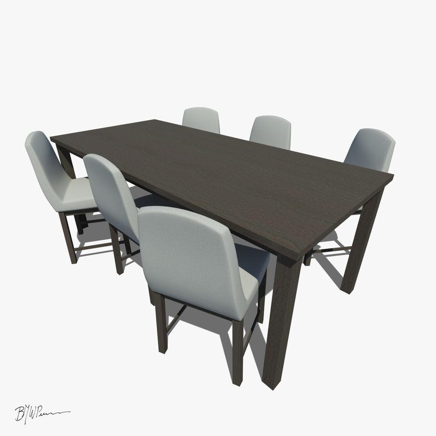 식탁과 의자 royalty-free 3d model - Preview no. 2
