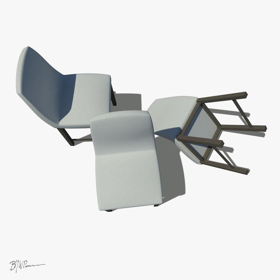 식탁과 의자 royalty-free 3d model - Preview no. 5