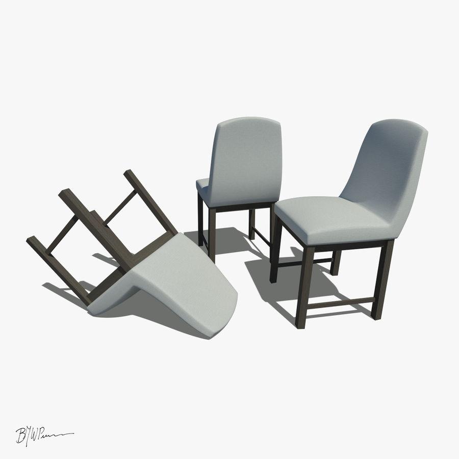 식탁과 의자 royalty-free 3d model - Preview no. 4