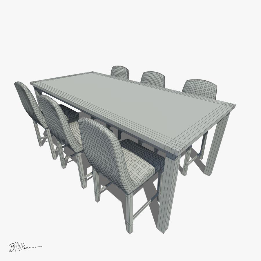 식탁과 의자 royalty-free 3d model - Preview no. 6