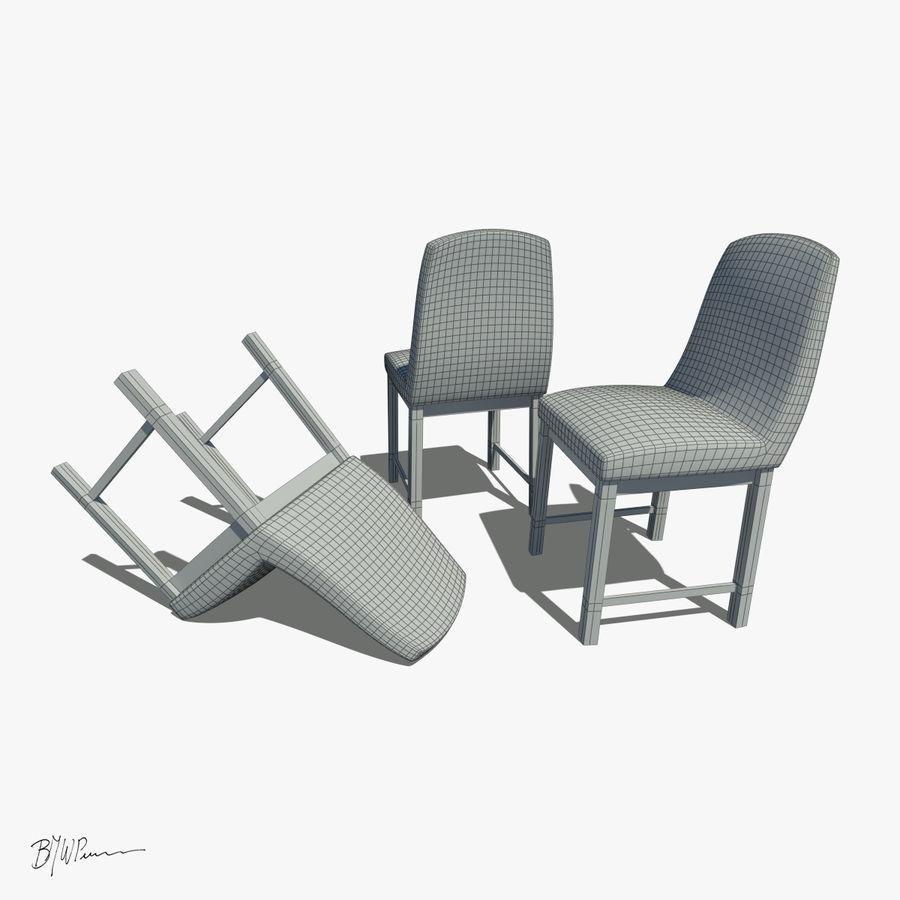 식탁과 의자 royalty-free 3d model - Preview no. 7