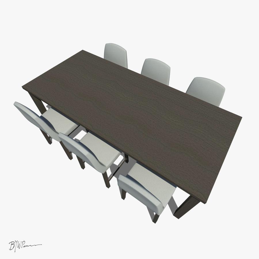식탁과 의자 royalty-free 3d model - Preview no. 3