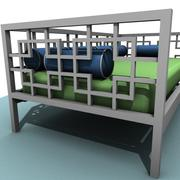 Geometric Day Bed 3d model