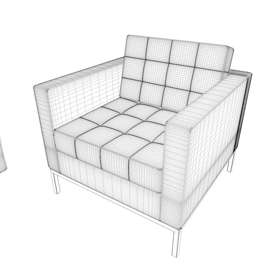 Sofá Mueble Set_Retro royalty-free modelo 3d - Preview no. 24