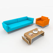 Sofa Furniture Set_Retro 3d model
