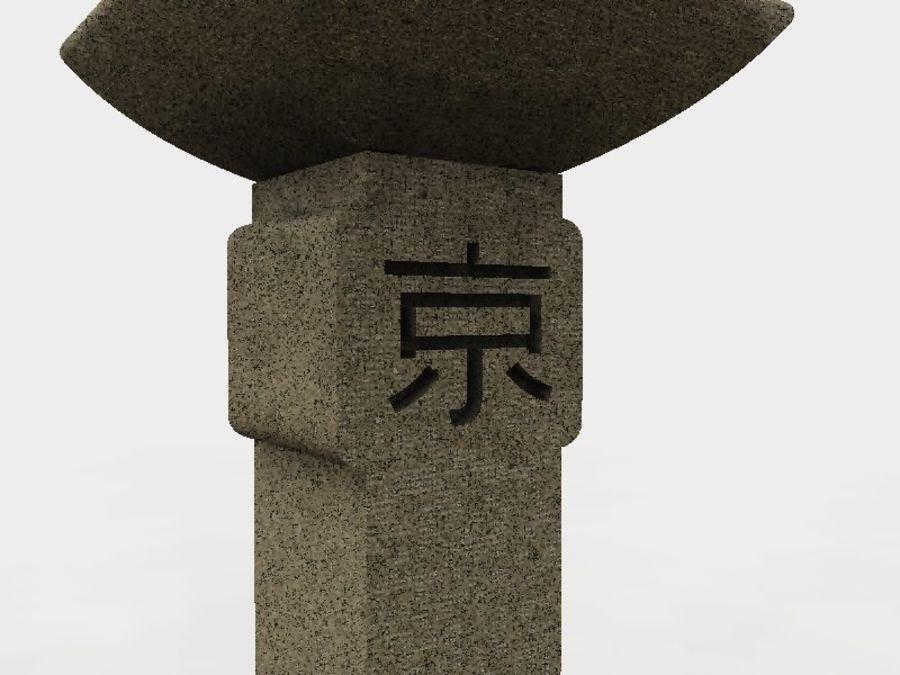 Japanese Stone Lantern royalty-free 3d model - Preview no. 3