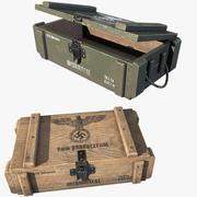 Ящики с боеприпасами 3d model