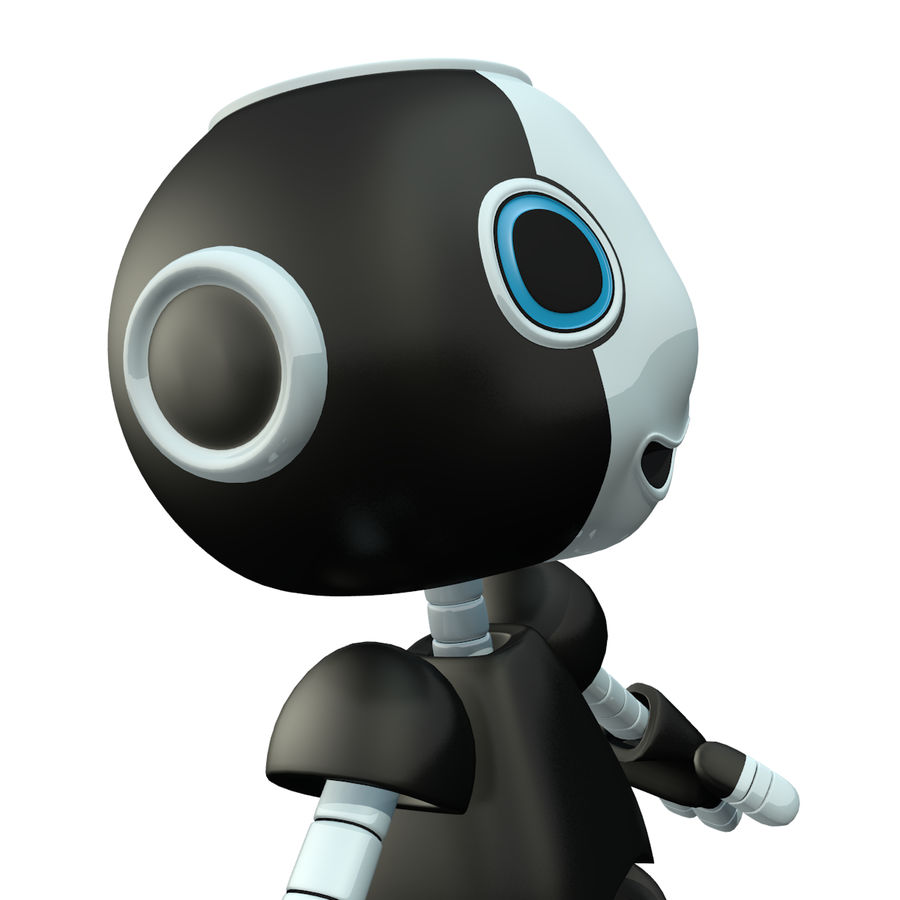 Cute Robot royalty-free 3d model - Preview no. 4