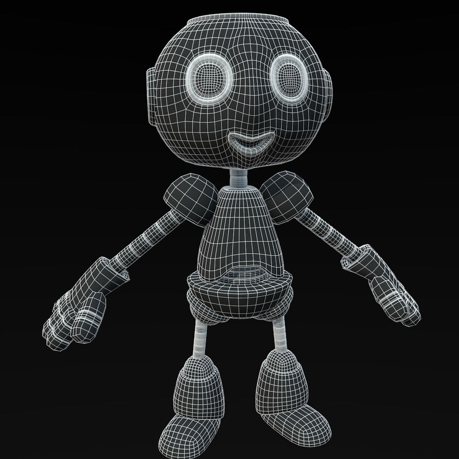 Cute Robot royalty-free 3d model - Preview no. 9