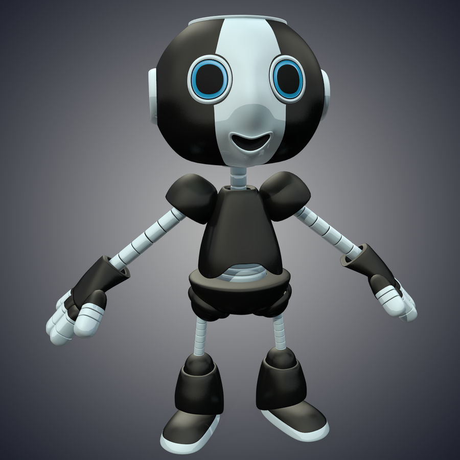 Cute Robot royalty-free 3d model - Preview no. 2
