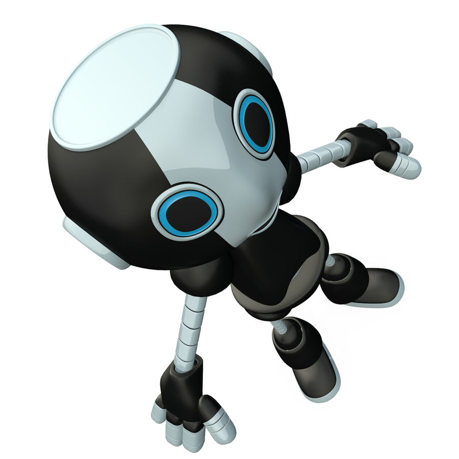 Cute Robot royalty-free 3d model - Preview no. 7