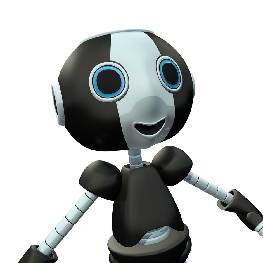 Cute Robot royalty-free 3d model - Preview no. 3