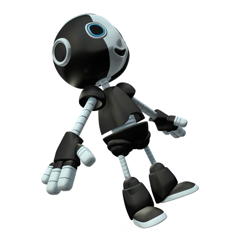 Cute Robot royalty-free 3d model - Preview no. 5