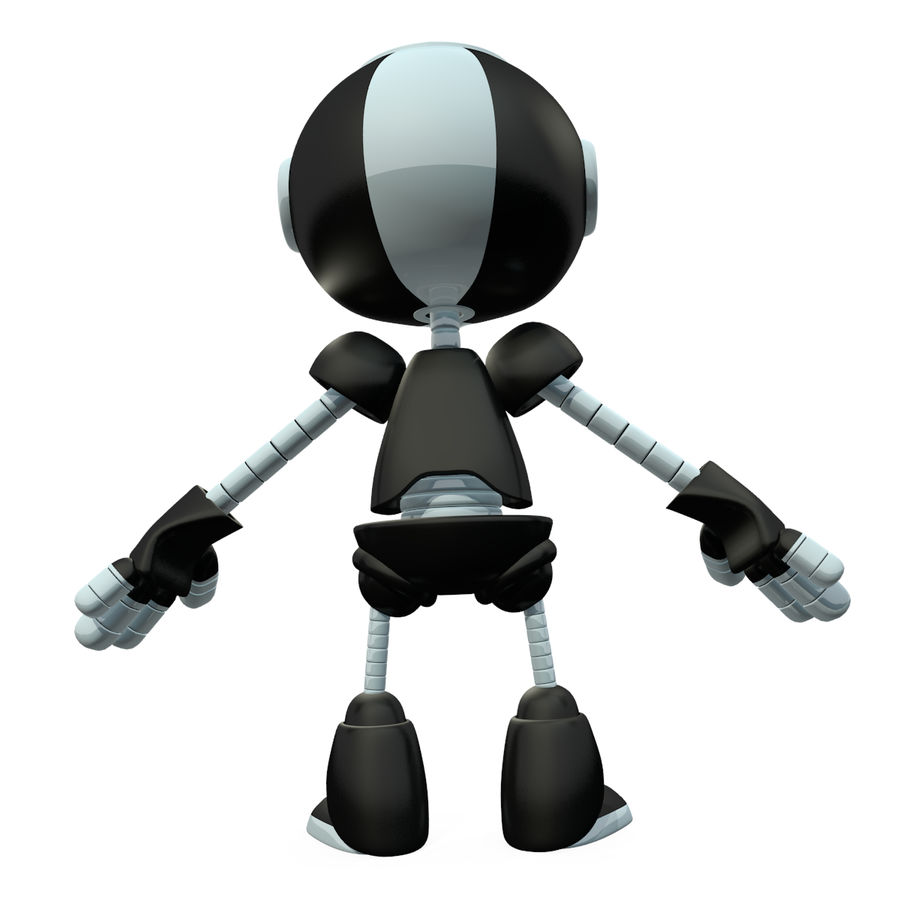 Cute Robot royalty-free 3d model - Preview no. 6