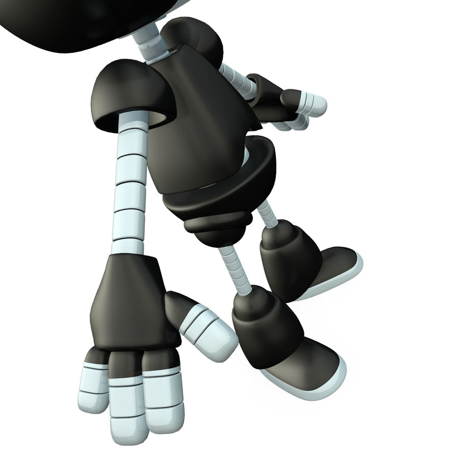 Cute Robot royalty-free 3d model - Preview no. 8
