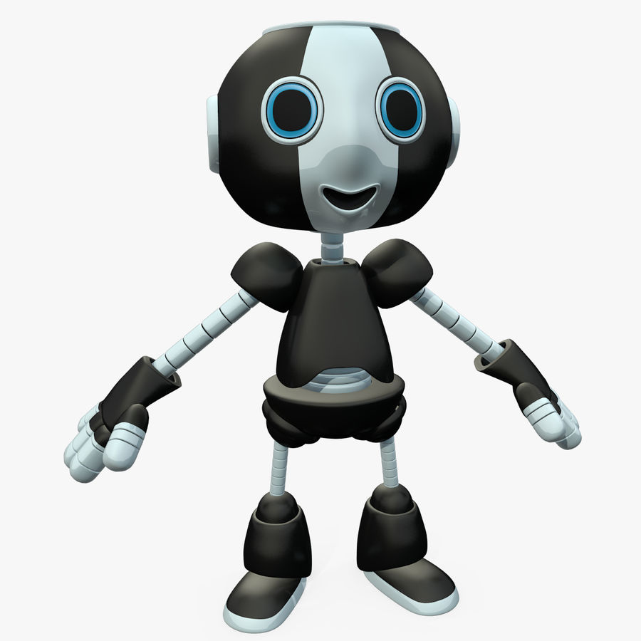 Cute Robot royalty-free 3d model - Preview no. 1