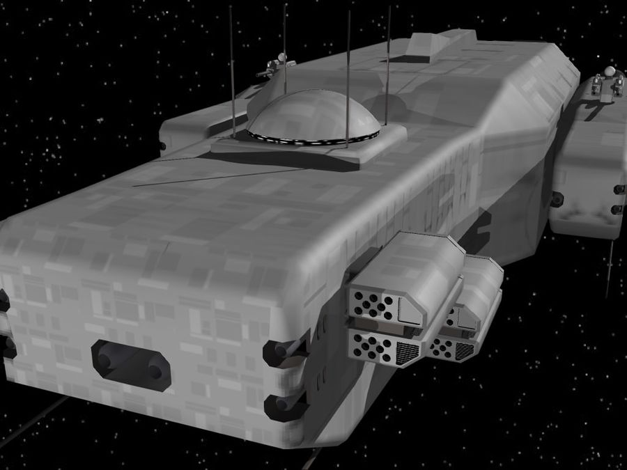 Space Cruiser royalty-free 3d model - Preview no. 3