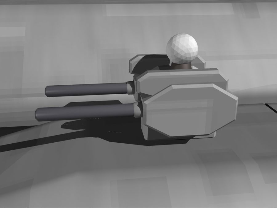 Space Cruiser royalty-free 3d model - Preview no. 7