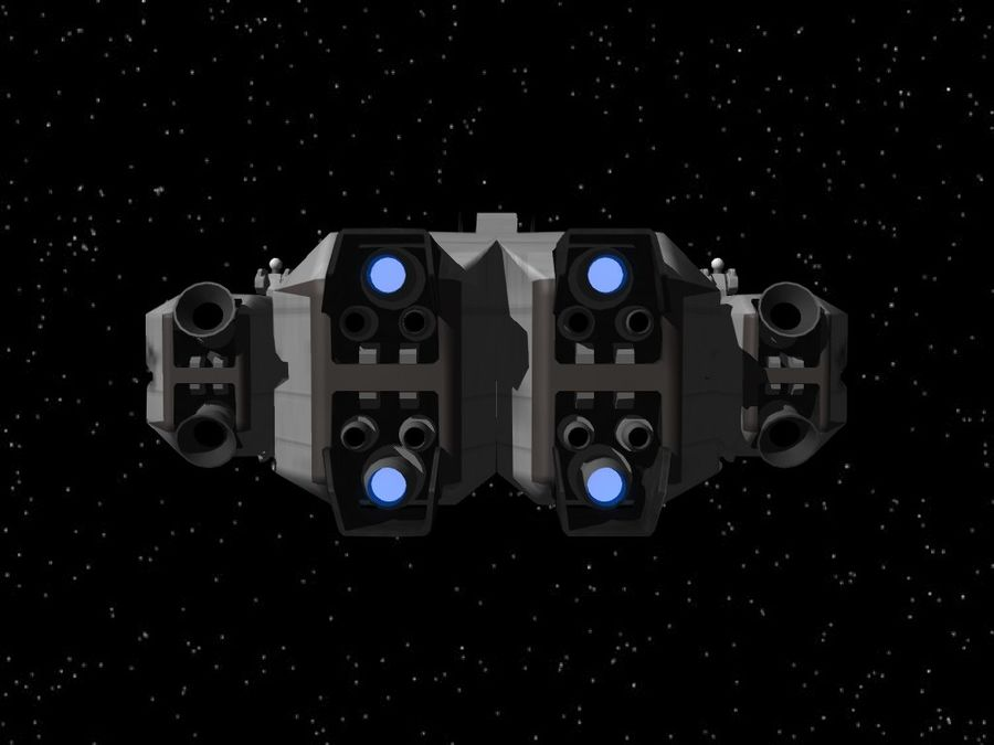 Space Cruiser royalty-free 3d model - Preview no. 6