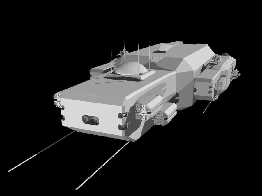 Space Cruiser royalty-free 3d model - Preview no. 11