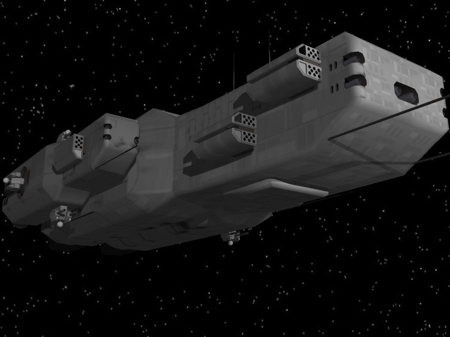 Space Cruiser royalty-free 3d model - Preview no. 10