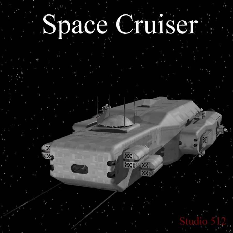 Space Cruiser royalty-free 3d model - Preview no. 1