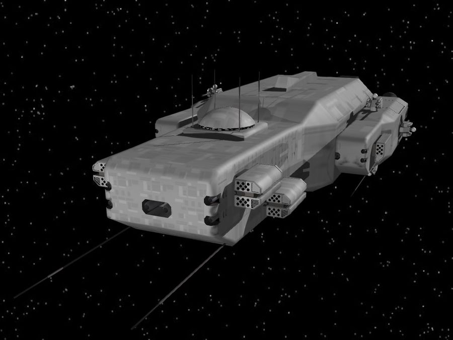 Space Cruiser royalty-free 3d model - Preview no. 2