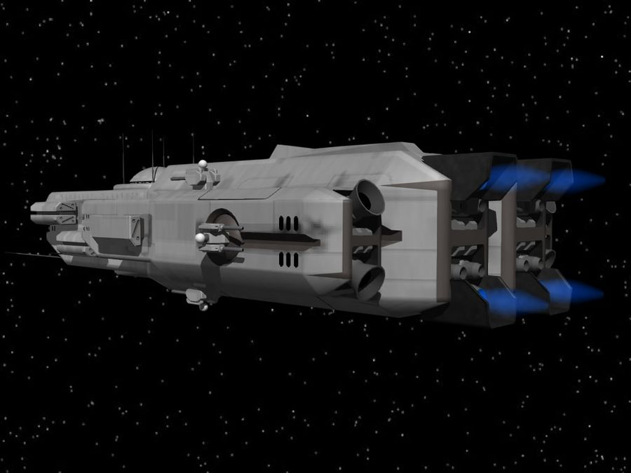 Space Cruiser royalty-free 3d model - Preview no. 5