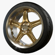 Volk Racing Wheel GT-C Yokohama ADVAN Neova AD07 tire 3d model