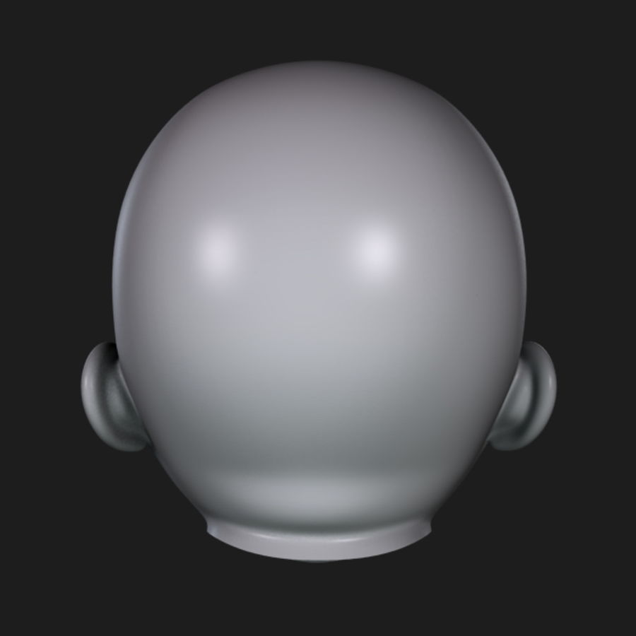 Baby Head royalty-free 3d model - Preview no. 9