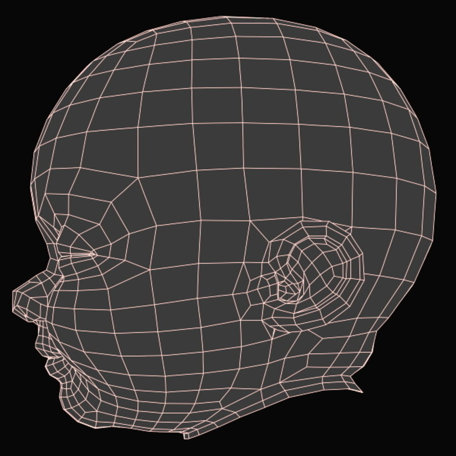 Baby Head royalty-free 3d model - Preview no. 18