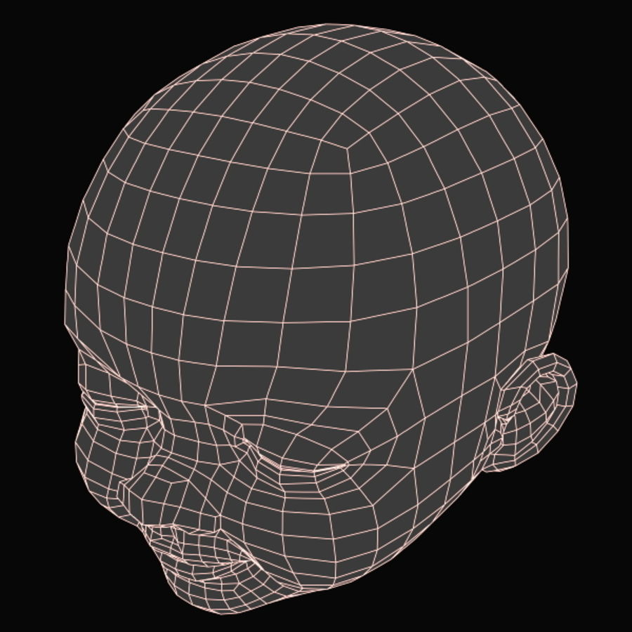 Baby Head royalty-free 3d model - Preview no. 20