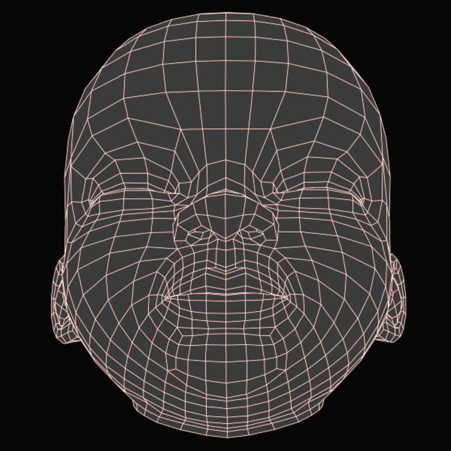 Baby Head royalty-free 3d model - Preview no. 21