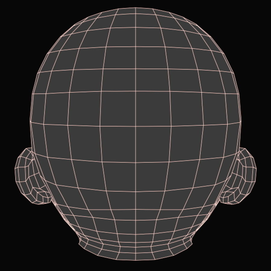 Baby Head royalty-free 3d model - Preview no. 19