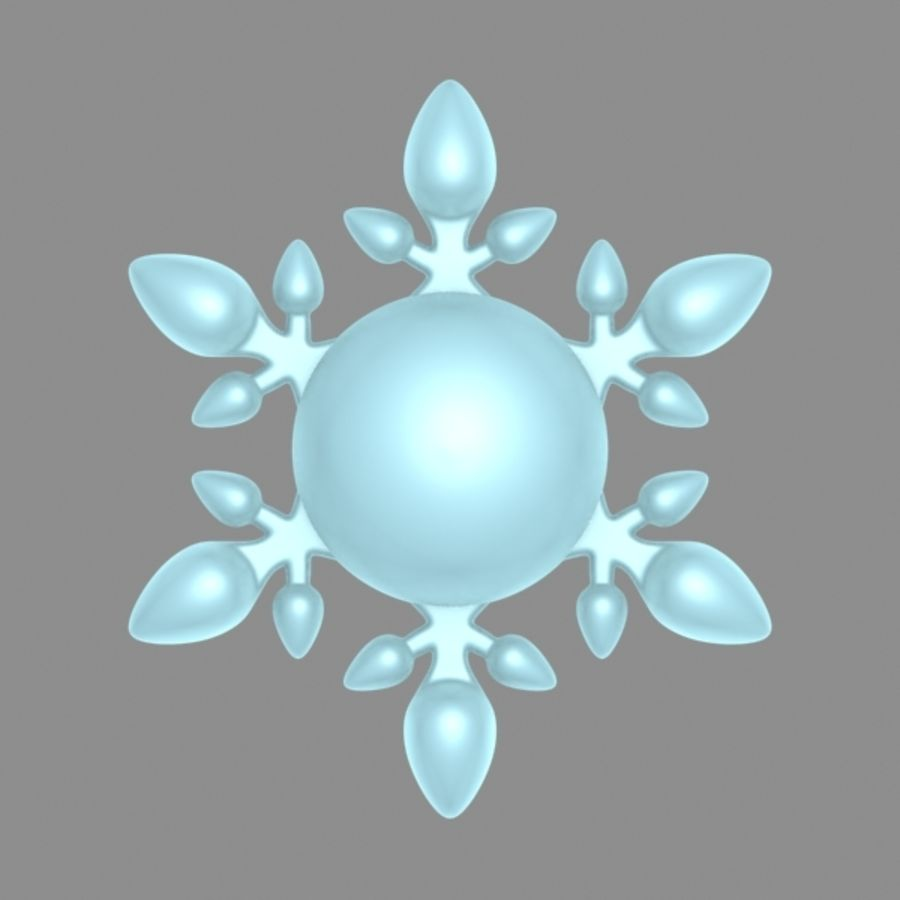 cartoon snowflake royalty-free 3d model - Preview no. 5