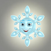cartoon snowflake 3d model