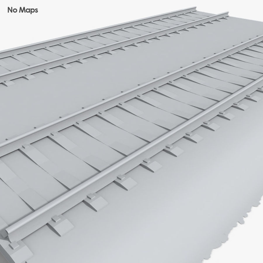 Railway Tracks 1 royalty-free 3d model - Preview no. 6