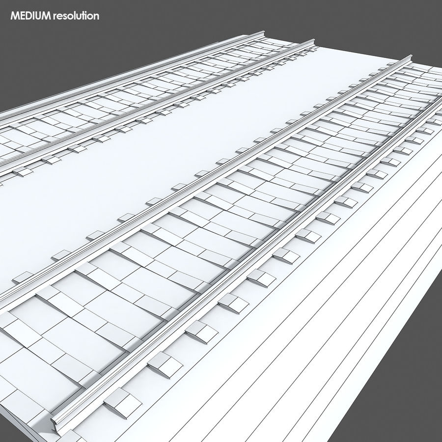 Railway Tracks 1 royalty-free 3d model - Preview no. 12