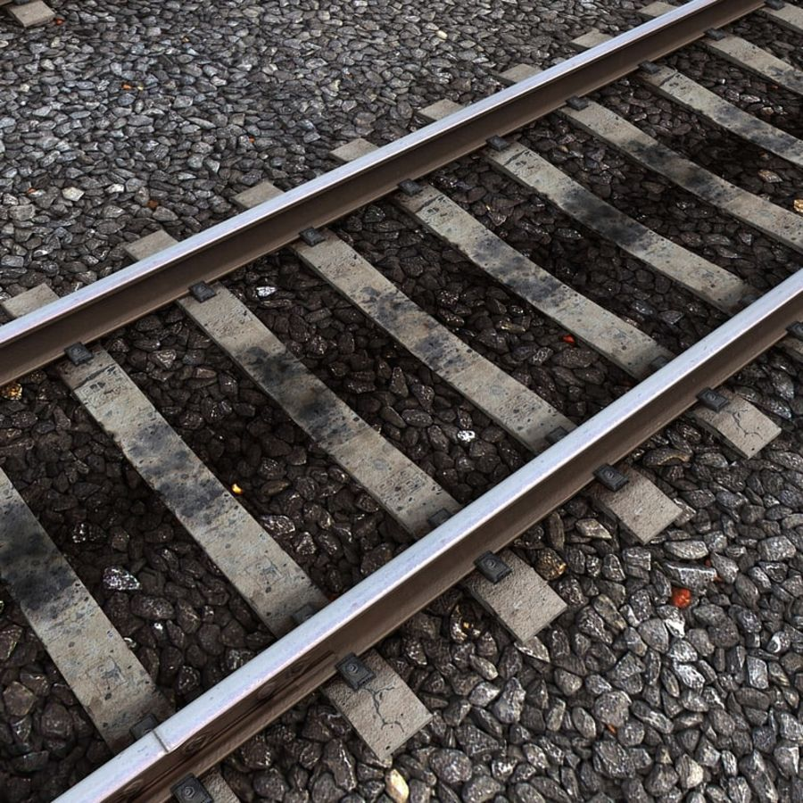 Railway Tracks 1 royalty-free 3d model - Preview no. 4