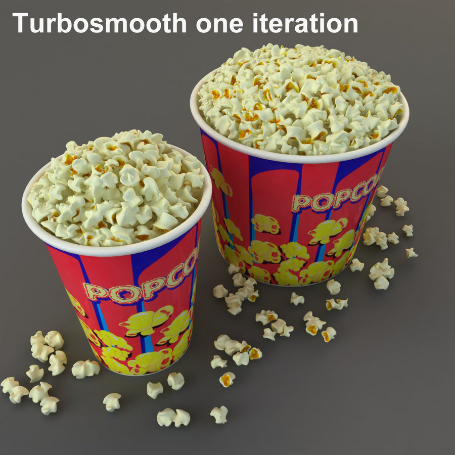 Popcorn in Tubs royalty-free 3d model - Preview no. 12