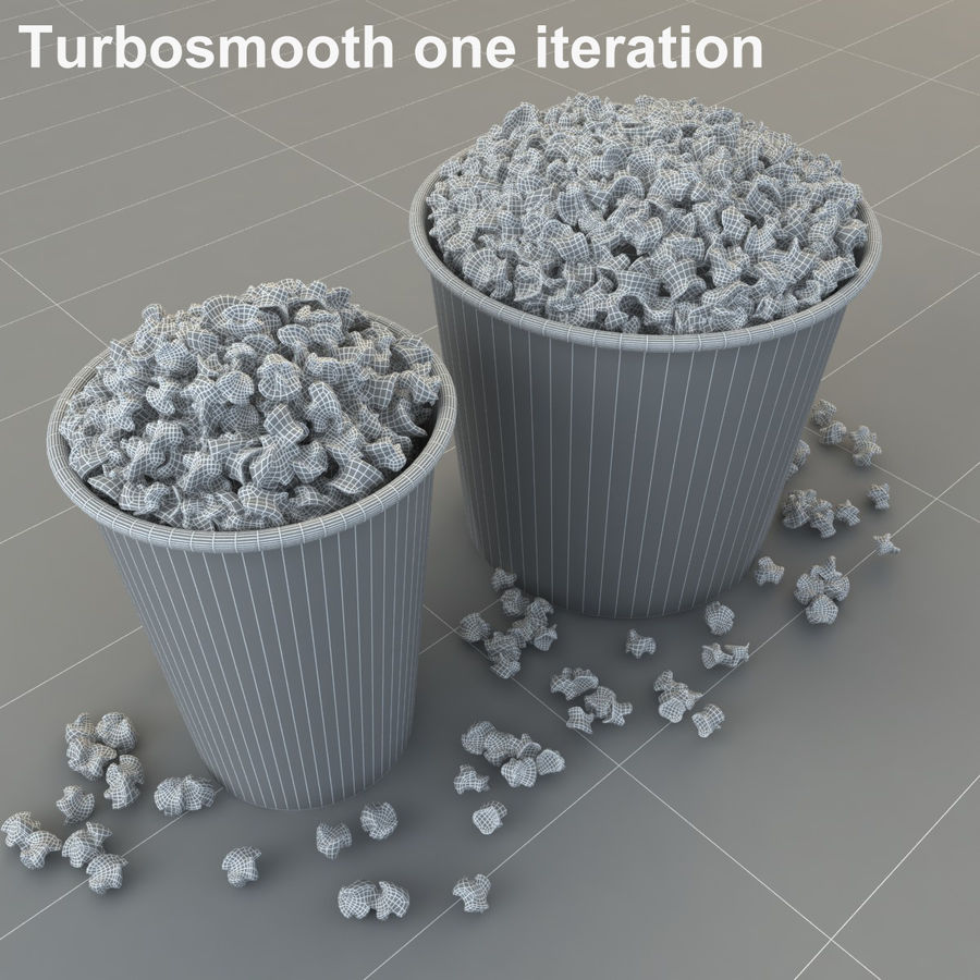 Popcorn in Tubs royalty-free 3d model - Preview no. 9