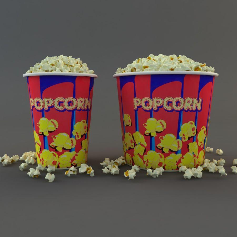 Popcorn W Wannach royalty-free 3d model - Preview no. 2