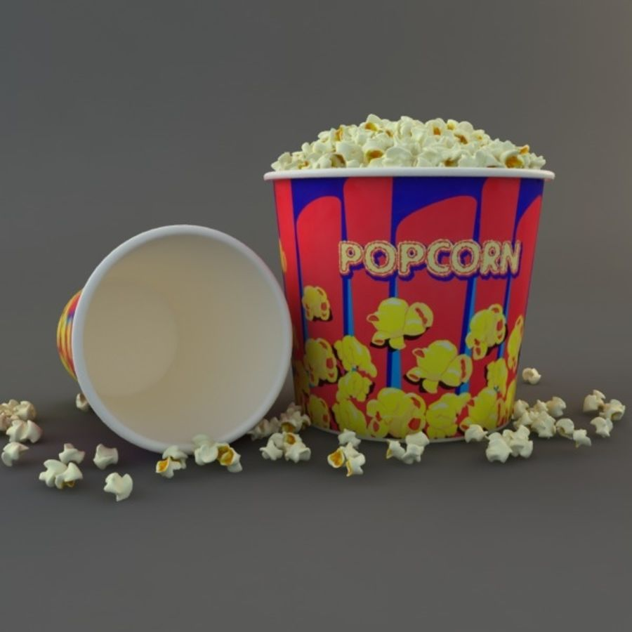 Popcorn W Wannach royalty-free 3d model - Preview no. 6