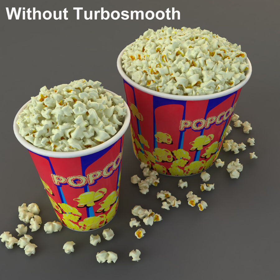 Popcorn in Tubs royalty-free 3d model - Preview no. 11