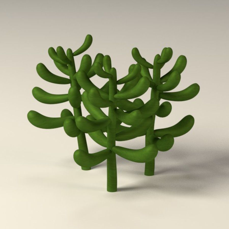 suculents royalty-free 3d model - Preview no. 12