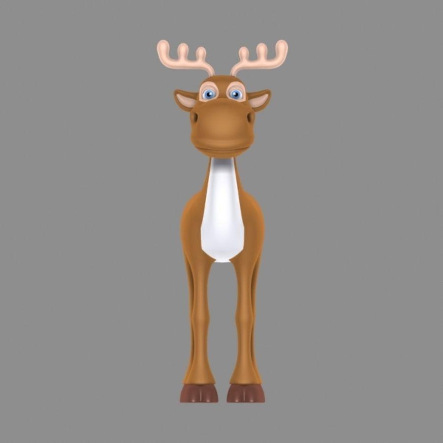 мультфильм олень 5 royalty-free 3d model - Preview no. 3