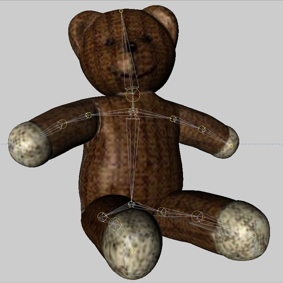 Teddy Bear royalty-free 3d model - Preview no. 15
