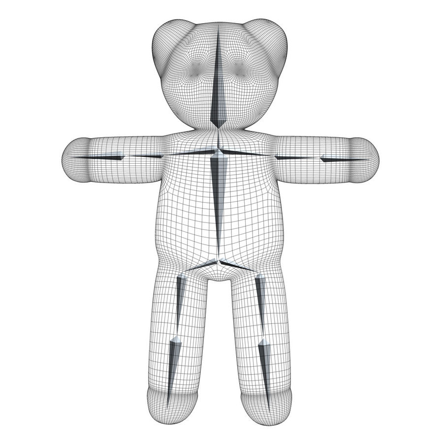 Teddy Bear royalty-free 3d model - Preview no. 14