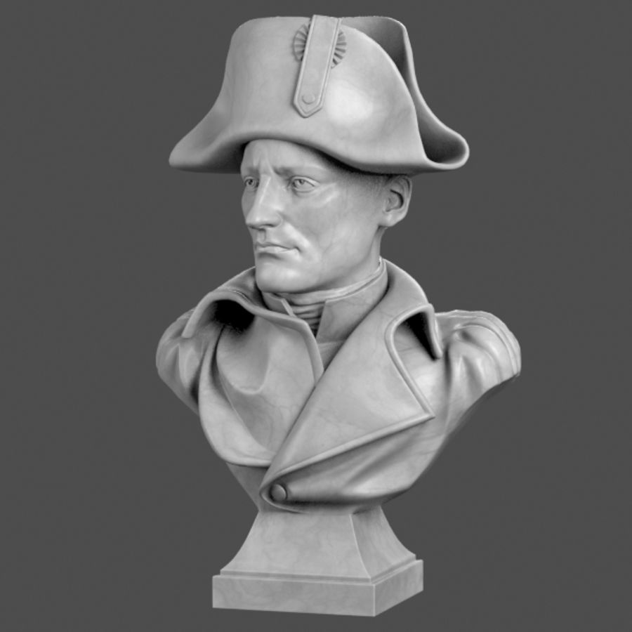 Busto de Napoleão royalty-free 3d model - Preview no. 2